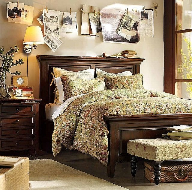 мужской характер спальни
