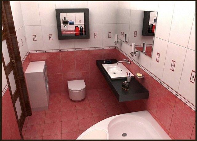 неплохой вариант ванной комнаты своими руками