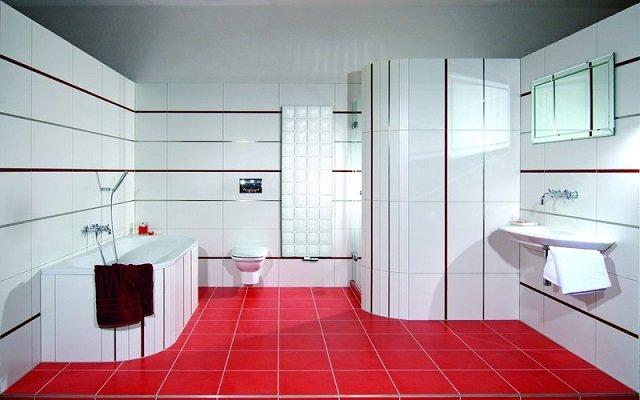 один из вариантов дизайна ванной комнаты