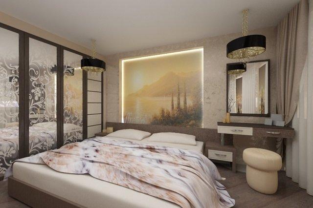 оформление фресками спальни
