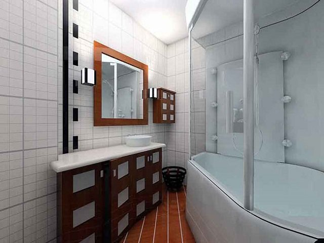 оформления кафельной плитки в ванной комнате