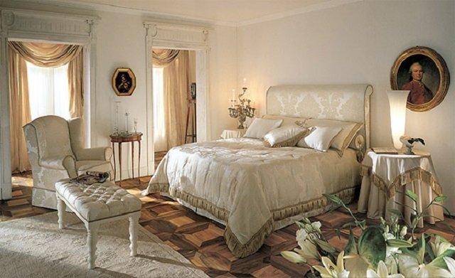 основные акценты стиля классики в спальне