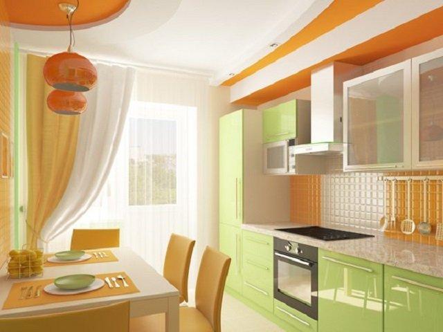 подбор цветового сочетания в интерьере кухни