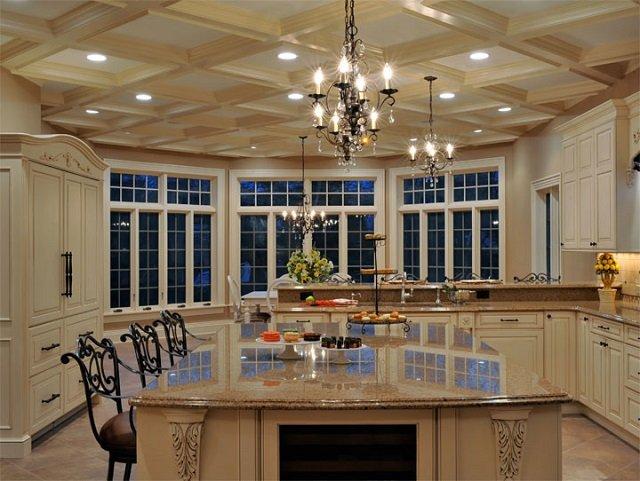 пример подвесных потолков на кухне