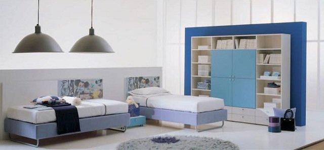 простой дизайн детских комнат для разнополых детей