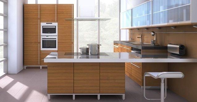 расположение печки на кухне