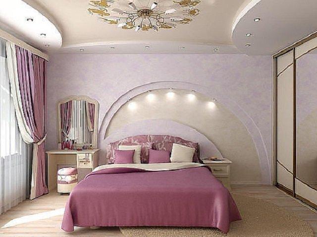 розовые фона спальни 3х3