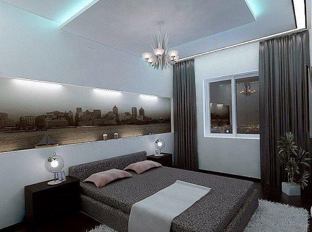 серая спальня 3х3