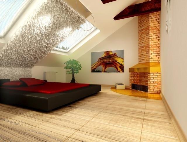 спальни мансанд интерьера