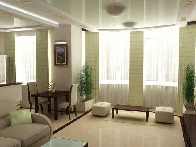 стиль минимализм в гостиной