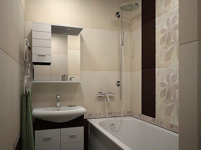 стильный дизайн ванной комнаты170х170