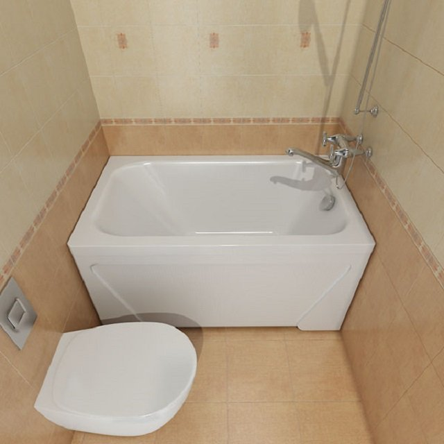 стильный интерьер ванны в хрущевке