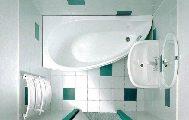 стильный дизайн ванной комнаты 150х135
