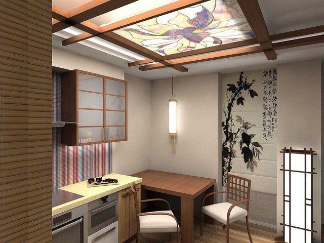 в восточном стиле красивый и изысканный интерьер кухни