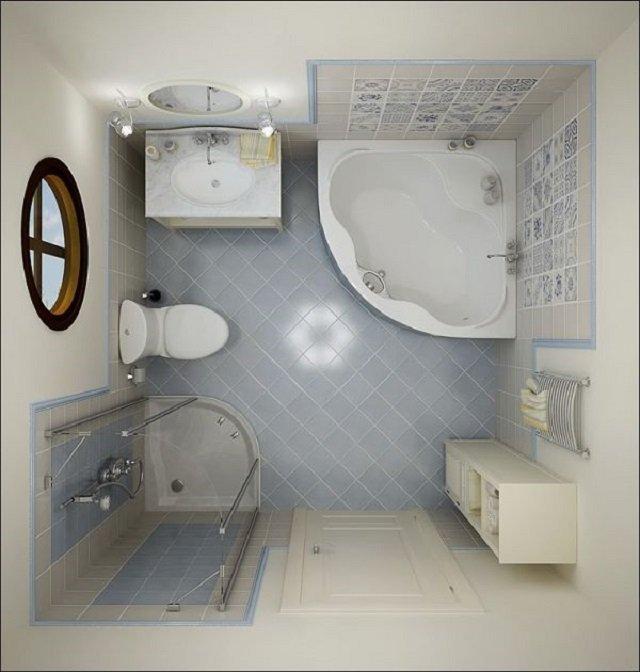 ванная комната в маленьких размерах