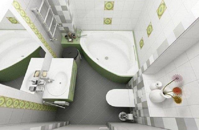 ванная комната в хрущевке в современном стиле