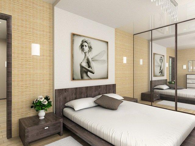 вариант дизайна спальни выполненного своими руками