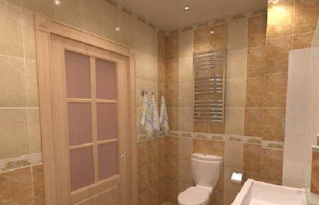вариант дизайна ванной 5м2