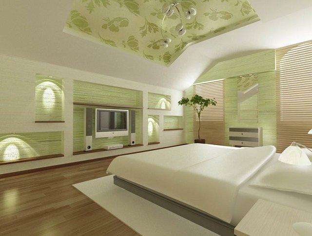 вариант мансардной спальни