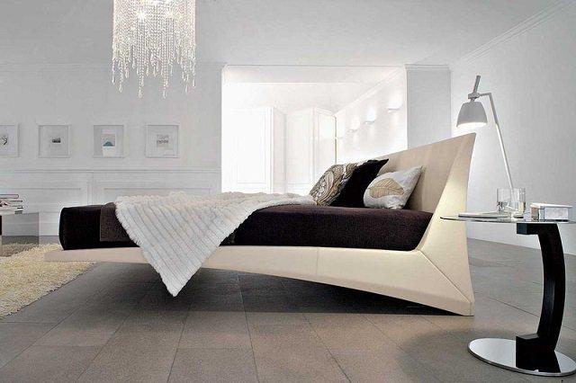 вариант стиля хай тек в спальне