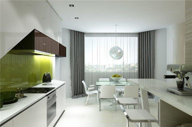 вид 12 метровой кухни