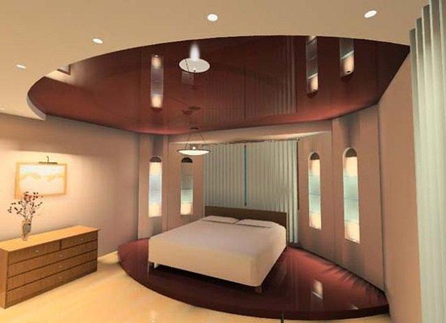 выбираем лучший дизайн потолков для спальни