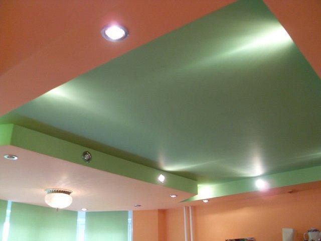 оригинальный дизайн двухуровневых потолков из гипсокартона