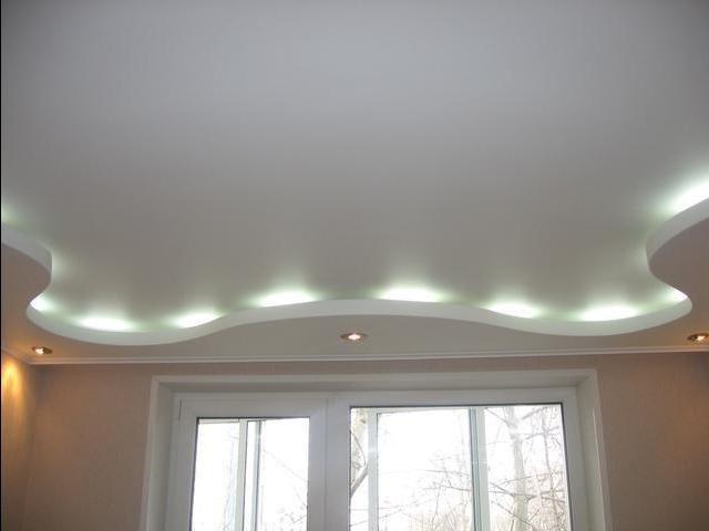 создать оригинальный дизайн двухуровневых потолков из гипсокартона