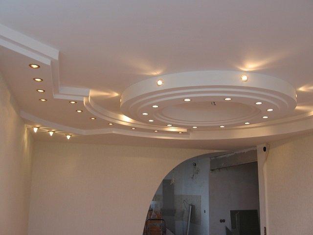 хороший дизайн подвесных потолков из гипсокартона