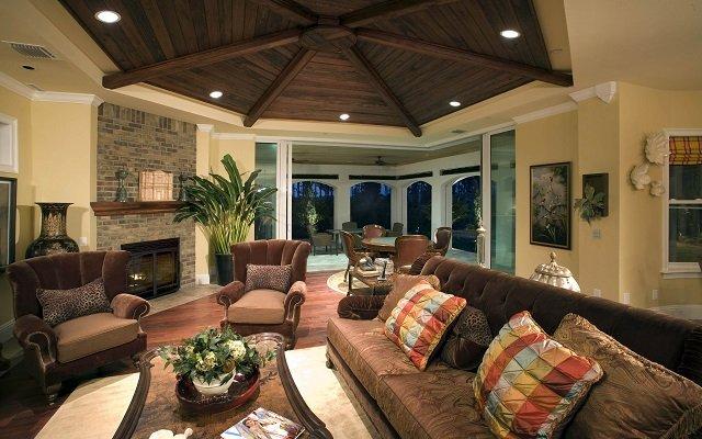 изысканный дизайн деревьянного потолка или индивидуальное видение интерьера собственной комнаты