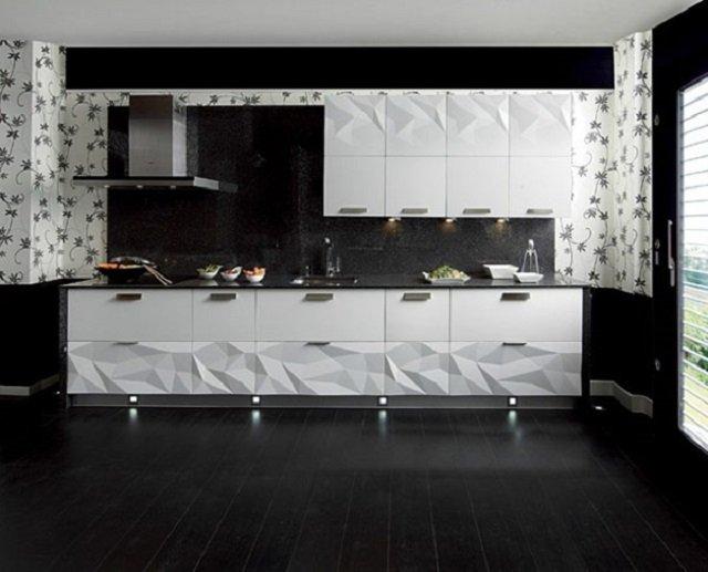 кухня в стиле оригами слишком экстравагантная