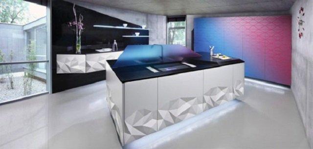 кухня в стиле современного оригами притягательная или слишком экстравагантная