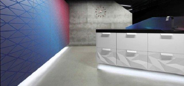 кухонная комната в стиле современного оригами