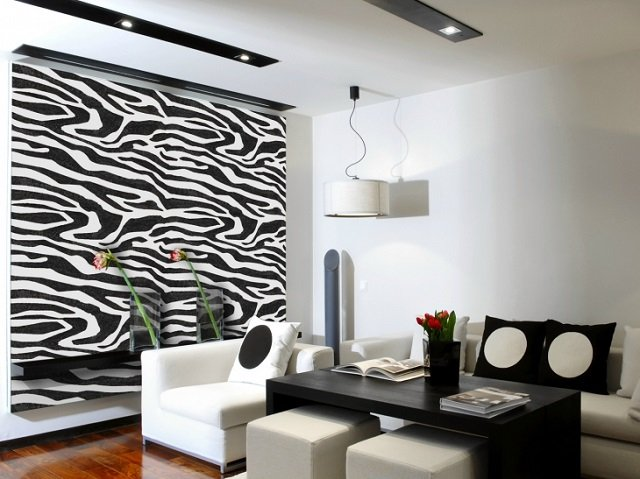 как правильно применять обои зебра в интерьере своего жилища