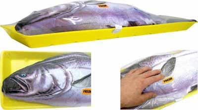 подушка в форме рыбы лосося