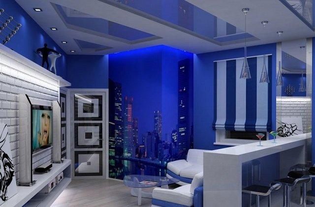 дизайн фотообоев ночного города в вашей комнате