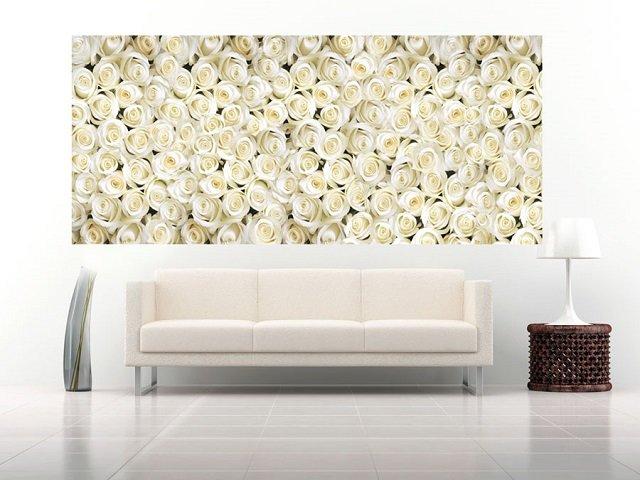 фотообои белые розы в интерьере вашей квартиры
