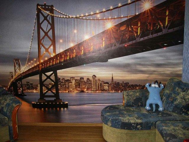 фотообои бруклинский мост в интерьере - незабываемое лицо вашего дома