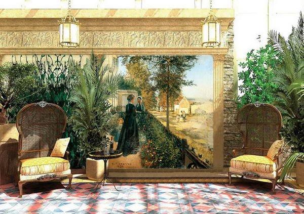 фотообои фрески в интерьере