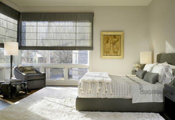 спальня с большими окнами фото