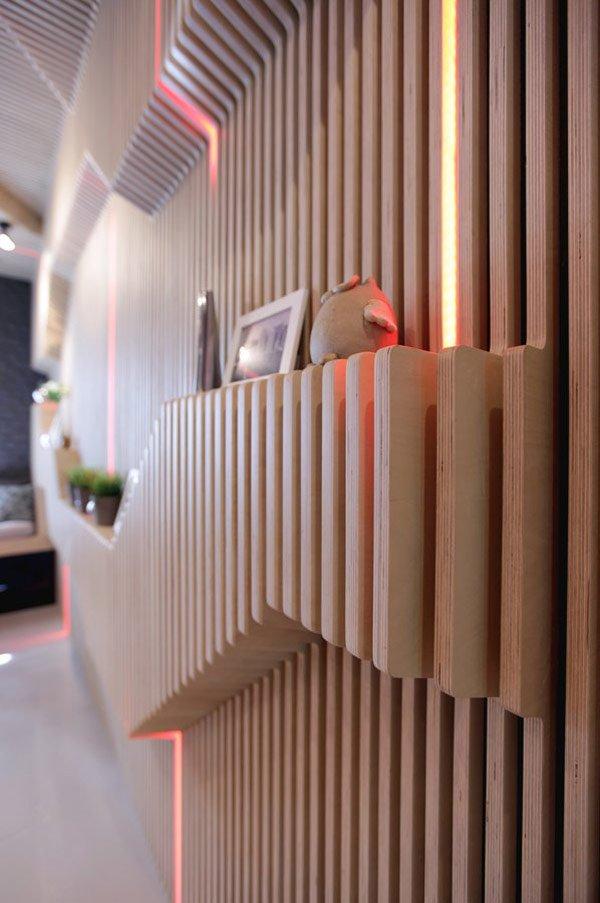 деревянные стены на кухне фото