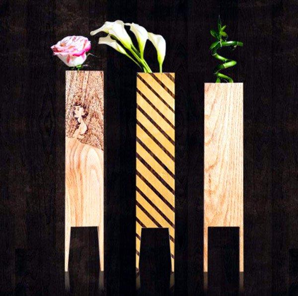 деревянные вазоны ручная работа