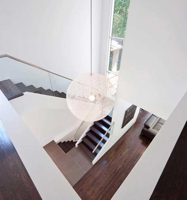 дизайн лестницы на второй этаж в доме