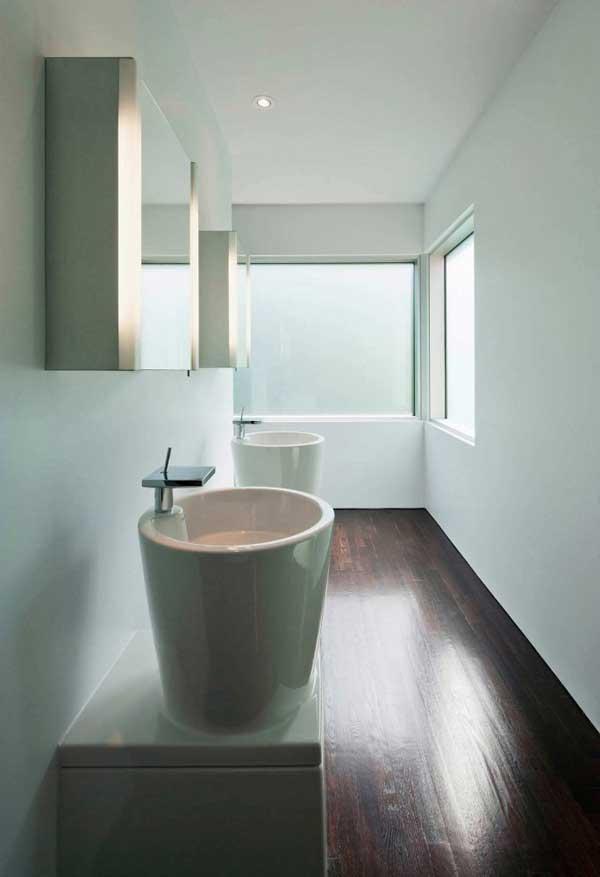 дизайн умывальника в ванной