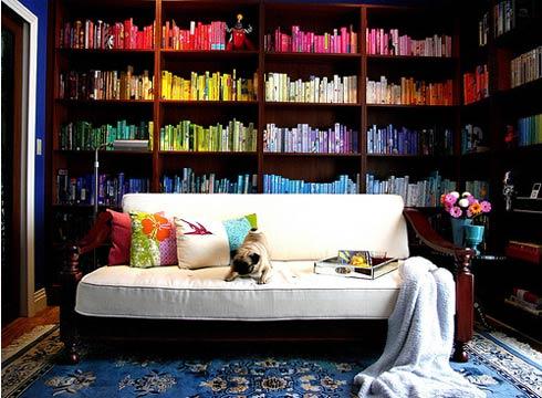 домашняя библиотека мебель