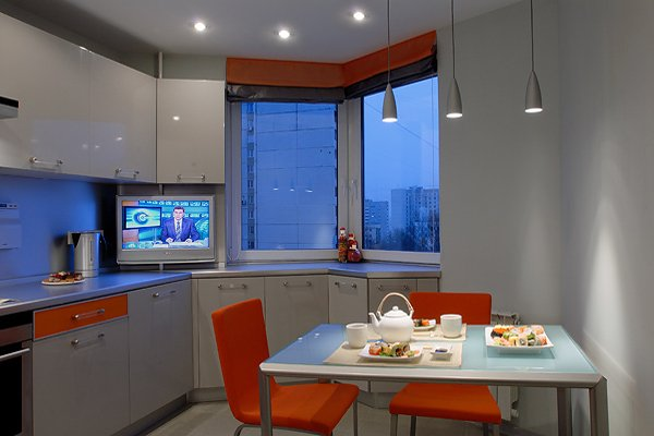 эркер на кухне в квартире п44т