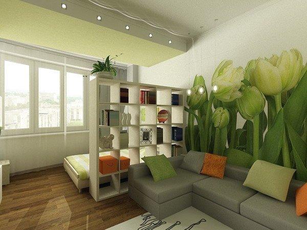 фотообои тюльпаны в интерьере комнат с учетом некоторых особенностей