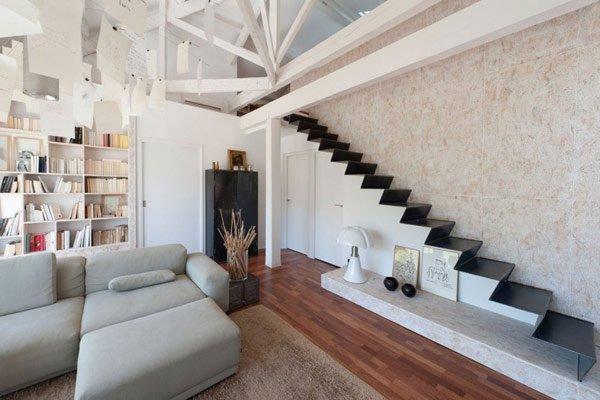 лестница на второй этаж в частном доме