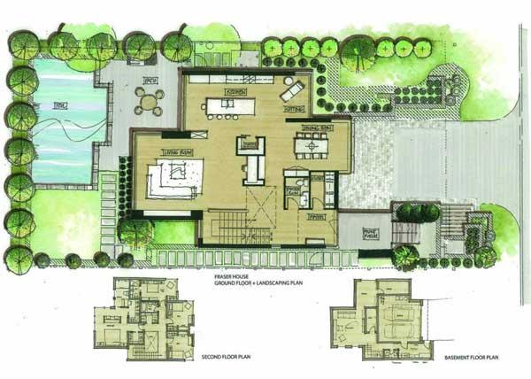 план двора частного дома