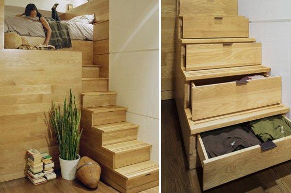 полезное пространство под лестницей
